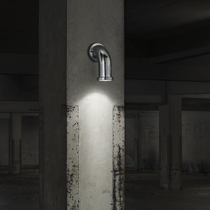 Empty White Parking Interior