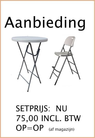 Set Statafel+barstoel inklapbaar