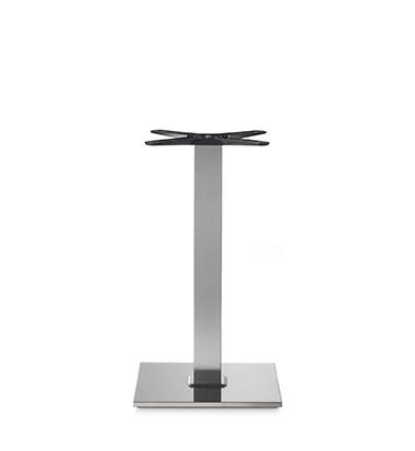 Tafelonderstel Stainless Steel H.72cm