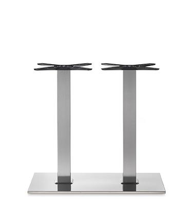 Tafelonderstel Stainless steel dubbel H.72