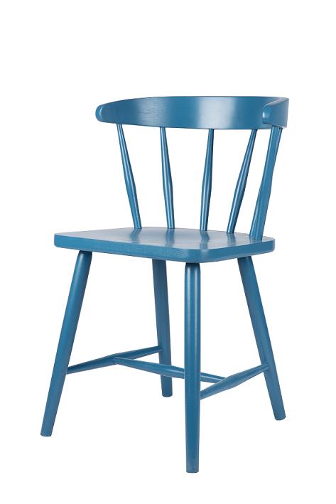 stoel hout blauw happy