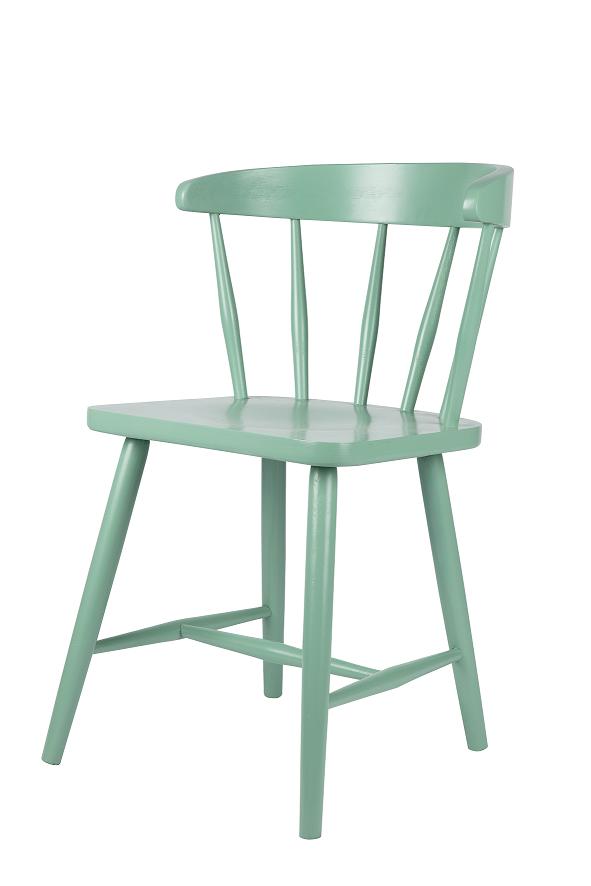 stoel hout groen happy