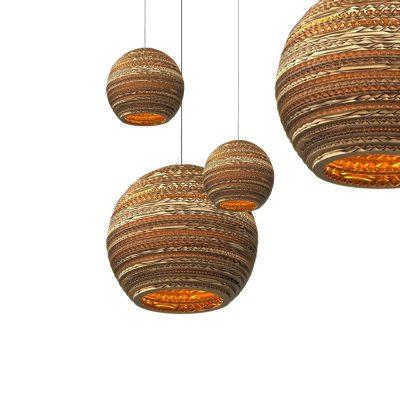 Hanglamp bruin karton 60cm Ø