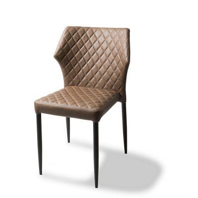 Stapelbare stoel mod.Lois-cognac