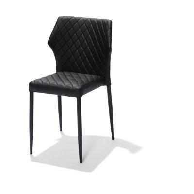 Stapelbare stoel mod.Lois-zwart