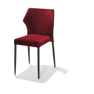 Stapelbare stoel mod.Lois-bordeaux